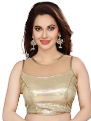 Ishin Gold-Toned Saree Blouse