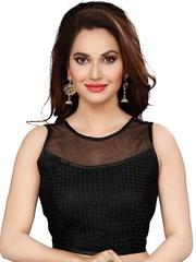 Ishin Black Brocade Saree Blouse