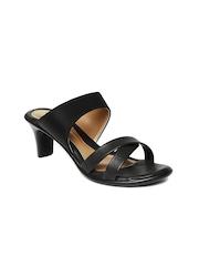 Bata Women Black Solid Heels