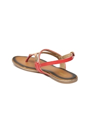 Bata Women Red & Gold-Toned Solid Flats
