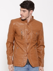 Fort Collins Brown Faux Leather Jacket