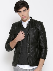 Fort Collins Coffee Black Faux Leather Jacket
