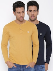 Fort Collins Men Pack of 2 Henley T-shirts