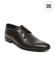 Louis Philippe Men Brown Genuine Leather Derby Shoes