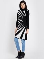 AKKRITI BY PANTALOONS Black Striped Longline Tunic