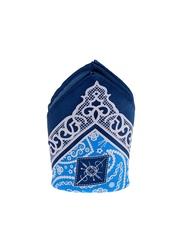 Tossido Blue Ethnic Print Pocket Square