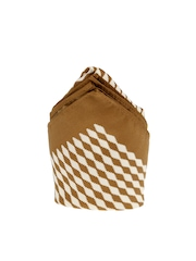 Tossido Brown & White Printed Pocket Square