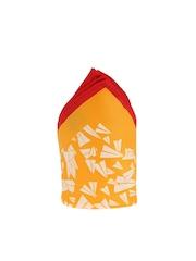 Tossido Orange & White Printed Pocket Square