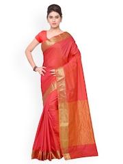 Inddus Red Art Silk Traditional Saree
