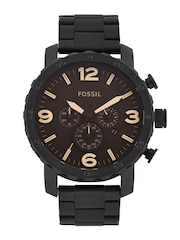 Fossil Men Brown Dial Chronograph Watch JR1356