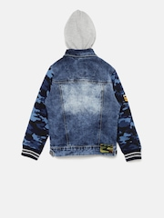 RUFF Boys Blue Denim Hooded Jacket