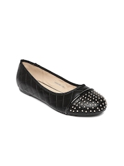 Allen Solly Women Black Solid Round-toe Flats