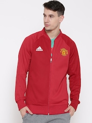 Adidas Red Manchester United FC ANTH H Sporty Jacket