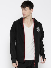 Adidas Black Manchester United FC ANTH ZNE Hooded Sporty Jacket