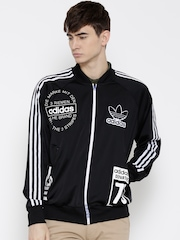 Adidas Originals Black Logo Print Track Jacket