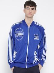 Adidas Originals Blue Logo Print Track Jacket