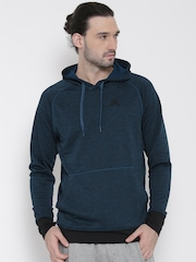 Adidas Teal Blue WNTOFF Hooded Training Sweatshirt