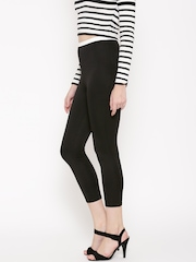 FOREVER 21 Black Cropped Leggings