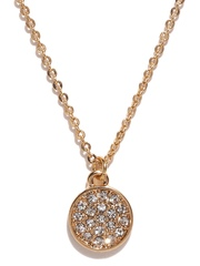 FOREVER 21 Gold-Toned Stone-Studded Princess Necklace