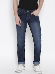 John Players Men Navy Slim Fit Low-Rise Clean Look Jeans