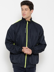 Reebok Navy Colourblocked ATHLE Training Track Jacket