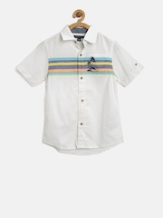 Tommy Hilfiger Boys Off-White Striped Shirt