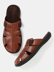 Roadster Brown Leather Sandals