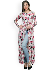 Cation Women White Printed Maxi Top