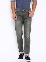 Killer Men Charcoal Slim Fit Mid Rise Clean Look Jeans