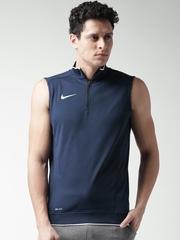 Nike Navy Sleeveless Crckt Hitmark T-shirt