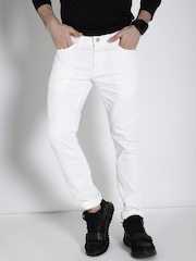 Ecko Unltd Men White Slim Fit Mid-Rise Clean Look Jeans