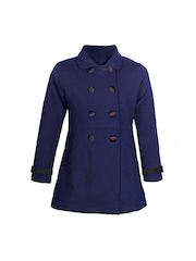 naughty ninos Girls Navy Pea Coat