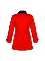 naughty ninos Girls Red Pea Coat