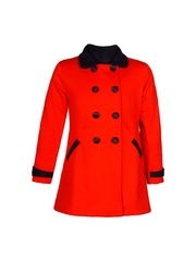 naughty ninos Girls Red Pea Coat