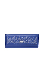 Lavie Women Blue Embroidered Wallet