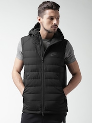 Nike Black Padded Sleeveless Hooded NSW Down Fill Jacket
