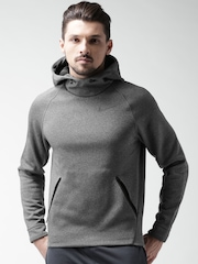 Nike Charcoal Grey As M Nk Thrma Sphr Hd Fz Hooded Sweatshirt