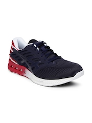 ASICS Unisex Navy & Red FuzeX Country Pack Running Shoes