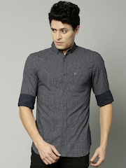 French Connection Men Navy Printed Casual Shirt