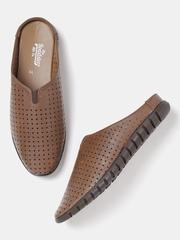 Roadster Men Brown Cut-Out Sandals