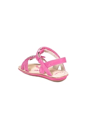 Clarks Girls Pink Leather Flats