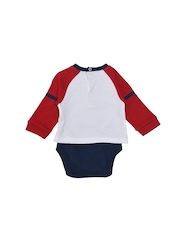 mothercare Boys White Bodysuit with Applique Detail