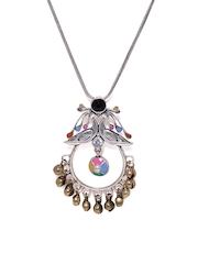 Studio Voylla Kutch Multicoloured Silver-Plated Pendant