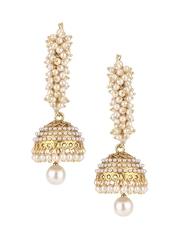 RATNAVALI Gold-Plated Hoop Earrings