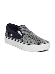 DC Women Navy Blue Woven Regular Slip-On Sneakers