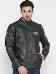 Being Human Clothing Navy Blue Biker Jacket