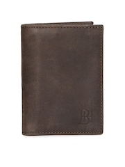 Being Human Clothing Unisex Brown Leather Card Holder