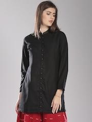 Fabindia Black Silk Kurta