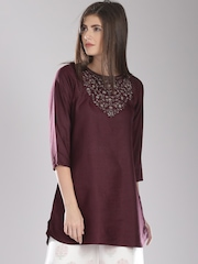 Fabindia Maroon Silk Tunic