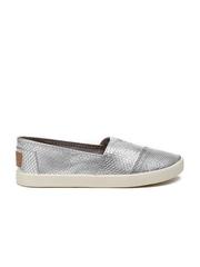 Steve Madden Women Silver Solid Slip-on Sneakers